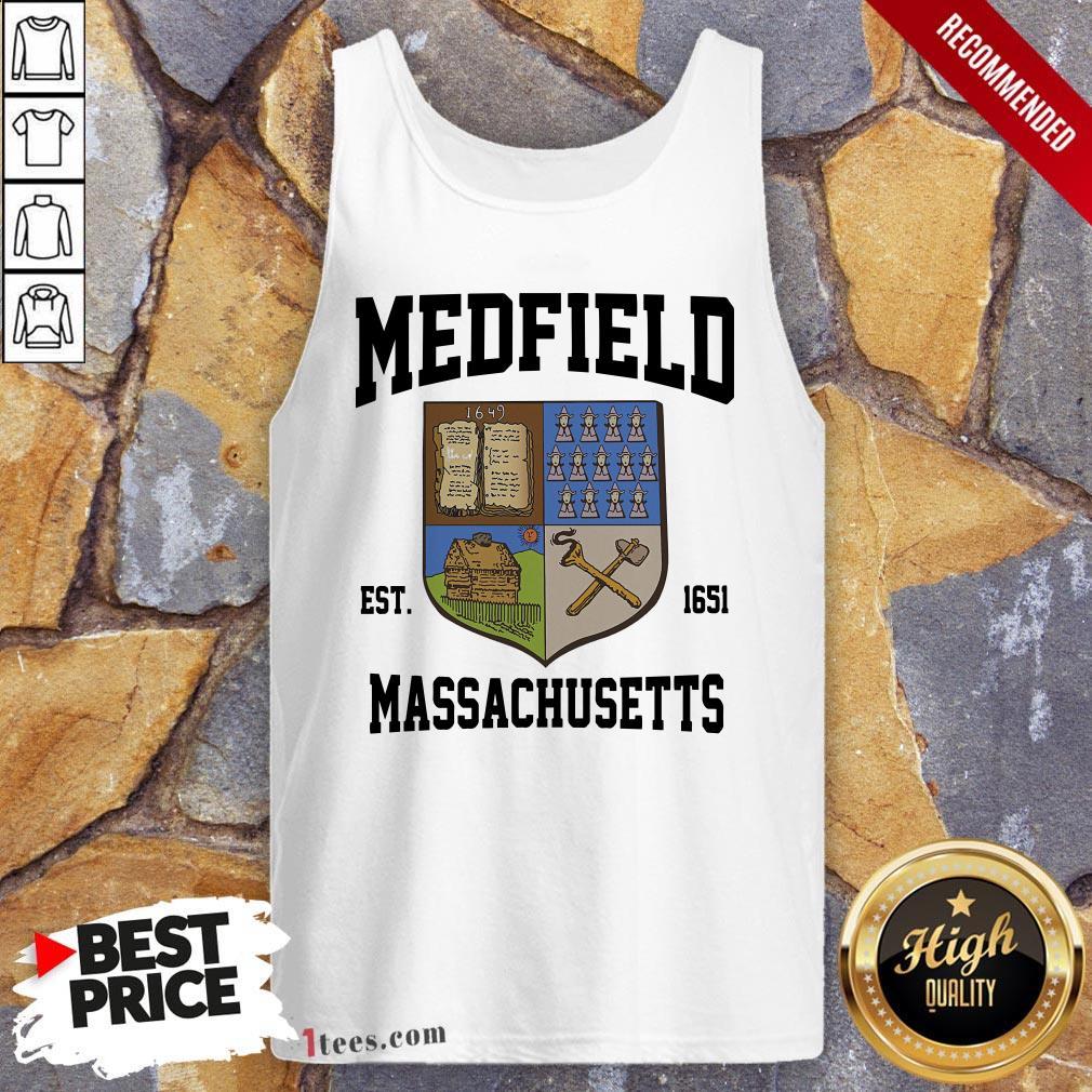 Official Medfield Est 1651 Massachusetts Tank Top