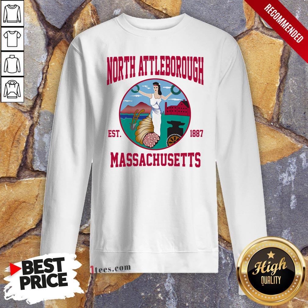 Official North Attleborough Est 1887 Massachusetts Ladies Sweatshirt