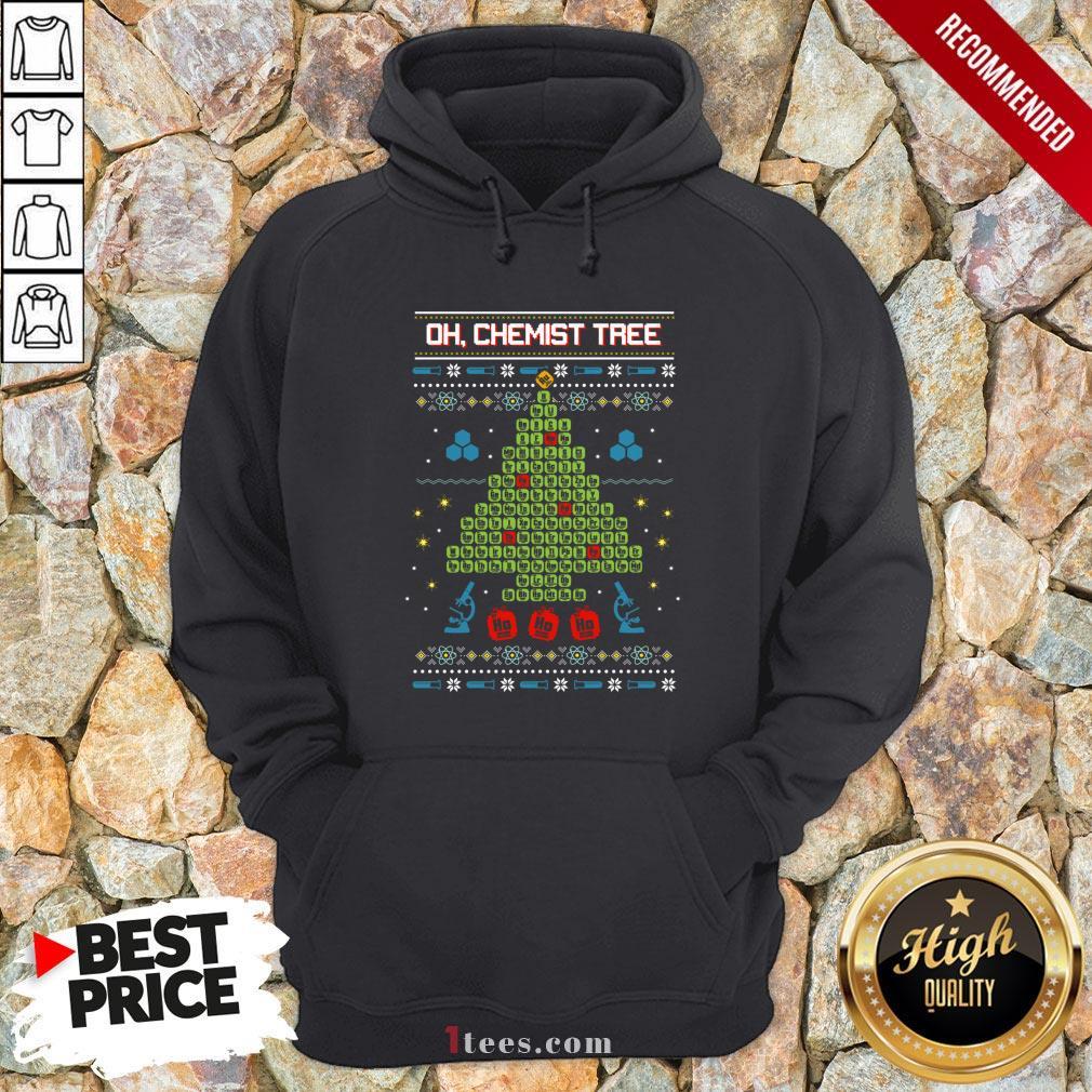 Oh Chemist Tree Ha Ha Ha Ugly Christmas Hoodie