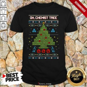 Oh Chemist Tree Ha Ha Ha Ugly Christmas Shirt