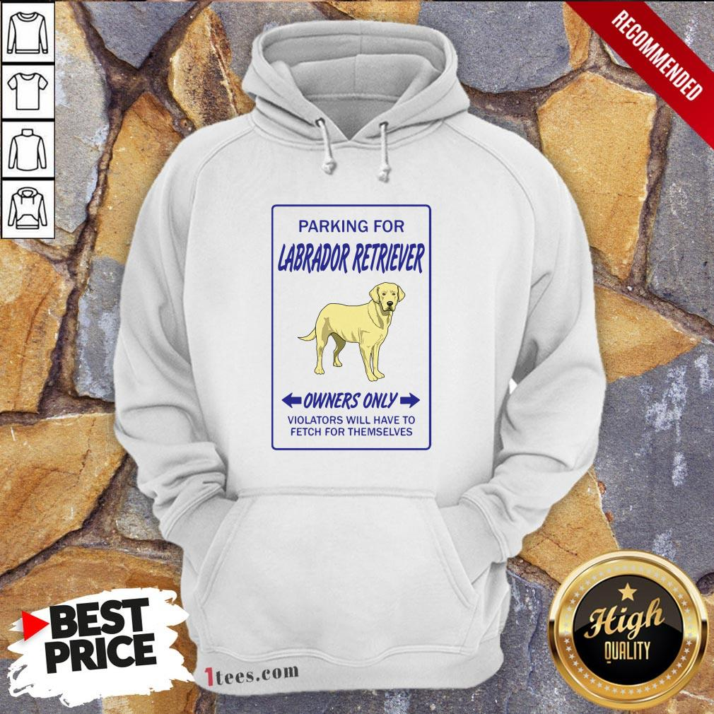 Parking For Labrador Retriever Owners Only Violators Will Have To Fetch For Themselves Hoodie