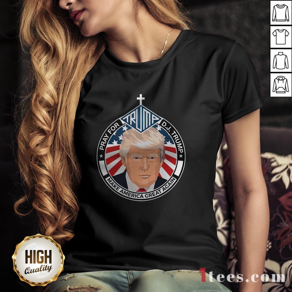 Pray For Trump 45 V-neck