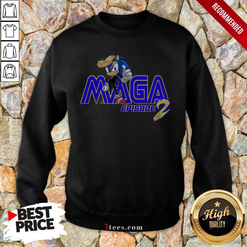 Sonic Hedgehog Maga Episode 2 Sweatshirt