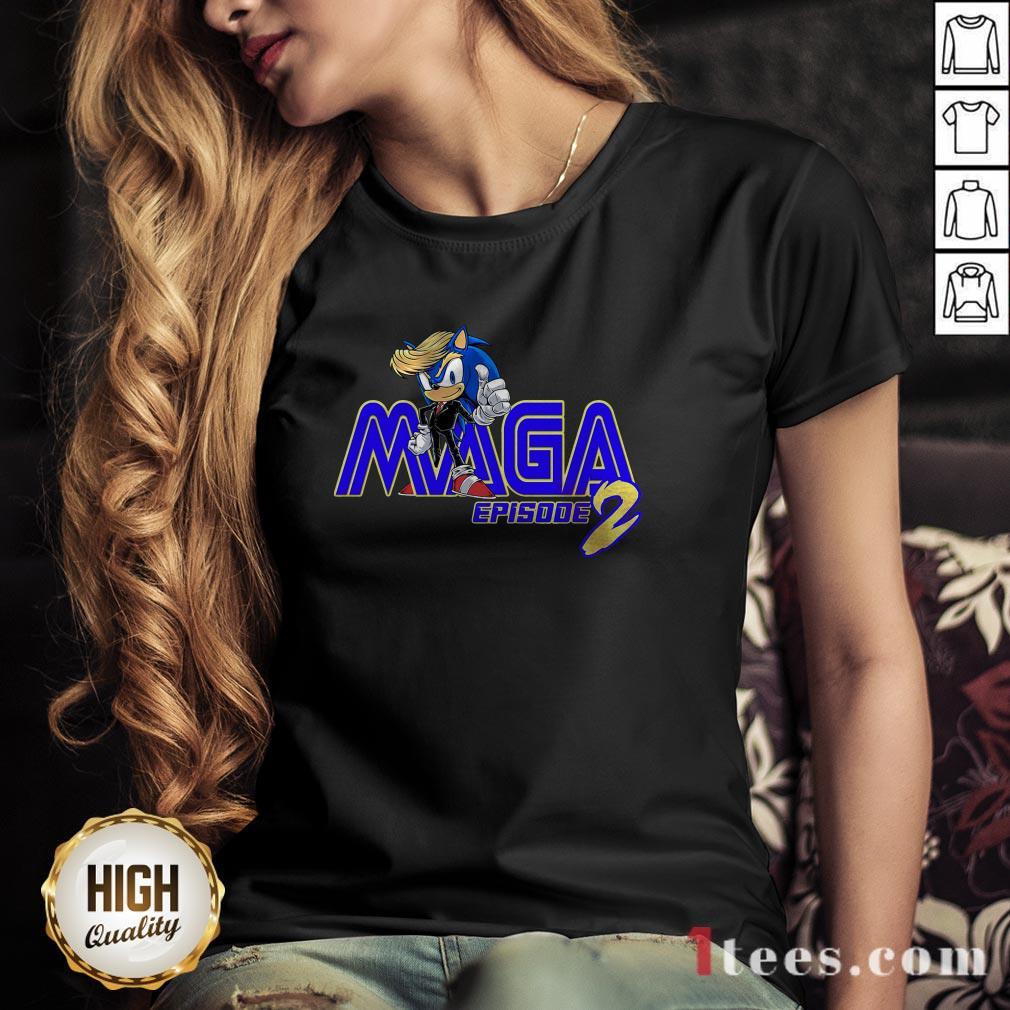 Sonic Hedgehog Maga Episode 2 V-neck