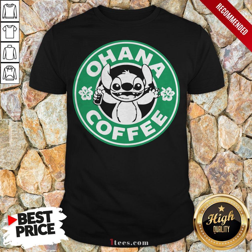 Starbucks Stitch Ohana Coffee Logo Shirt