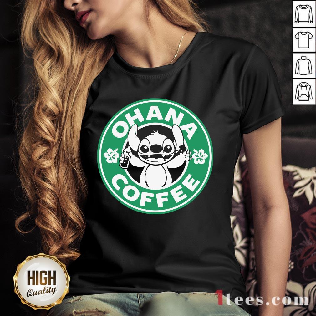 Starbucks Stitch Ohana Coffee Logo V-neck