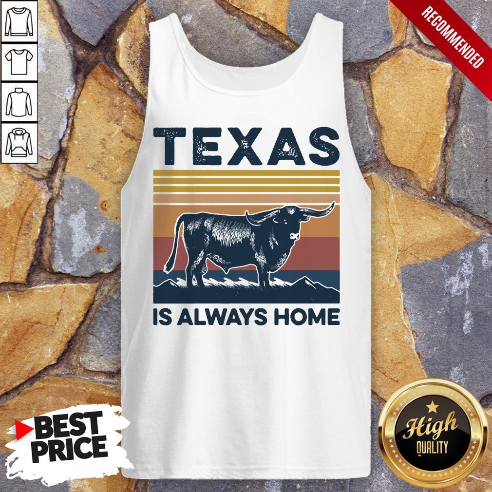 Texas Is Always Home Vintage Retro Tank Top