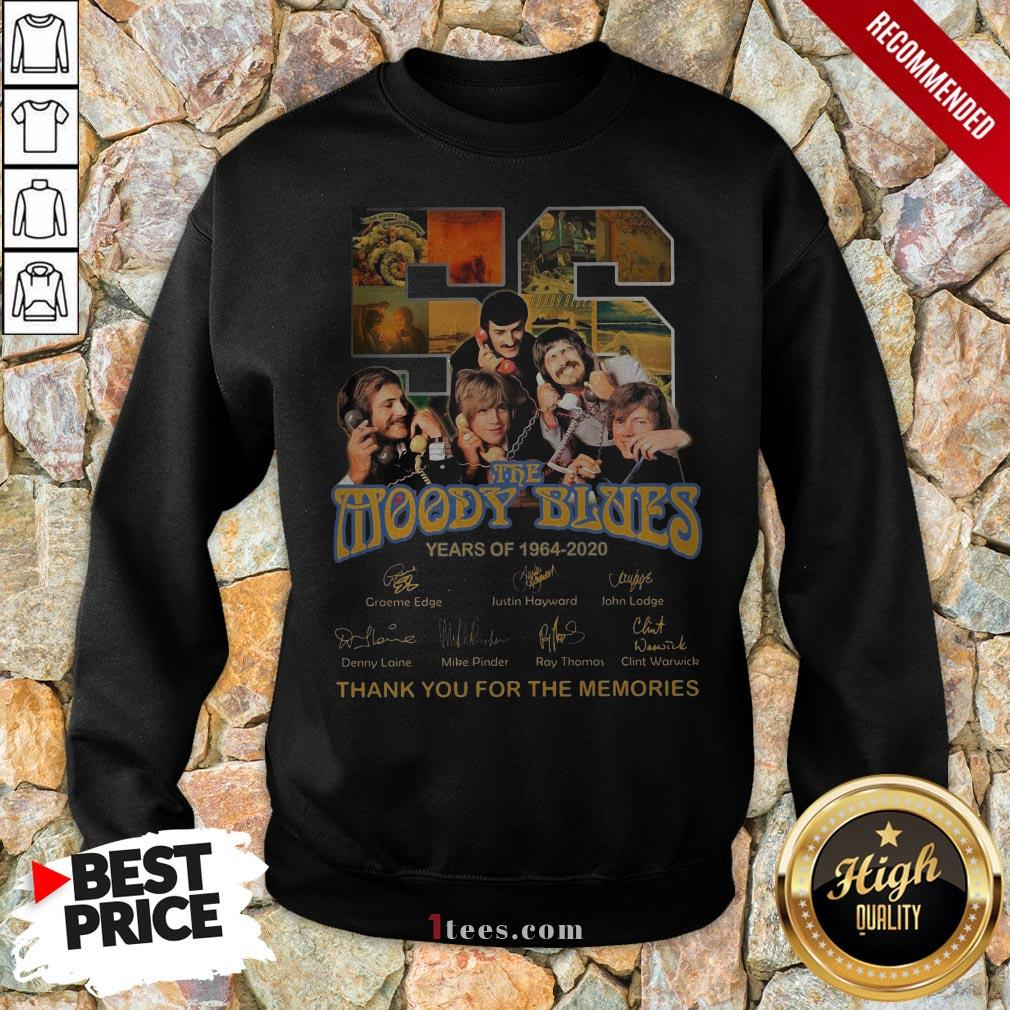 The Moody Blues 56 Years Of 1994-2020 Thank You For The Memories Signatures Sweatshirt