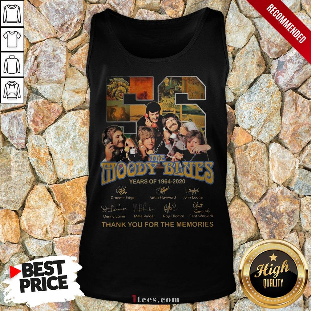 The Moody Blues 56 Years Of 1994-2020 Thank You For The Memories Signatures Tank Top