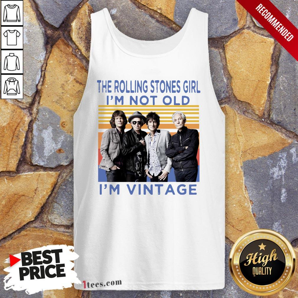 The Rolling Stones Girl I'M Not Old I'm Vintage Retro Tank Top
