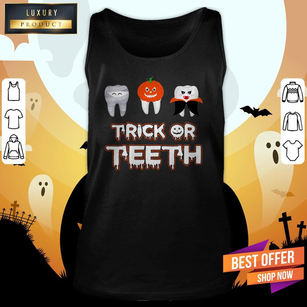 Trick Or Teeth Halloween Tank Top