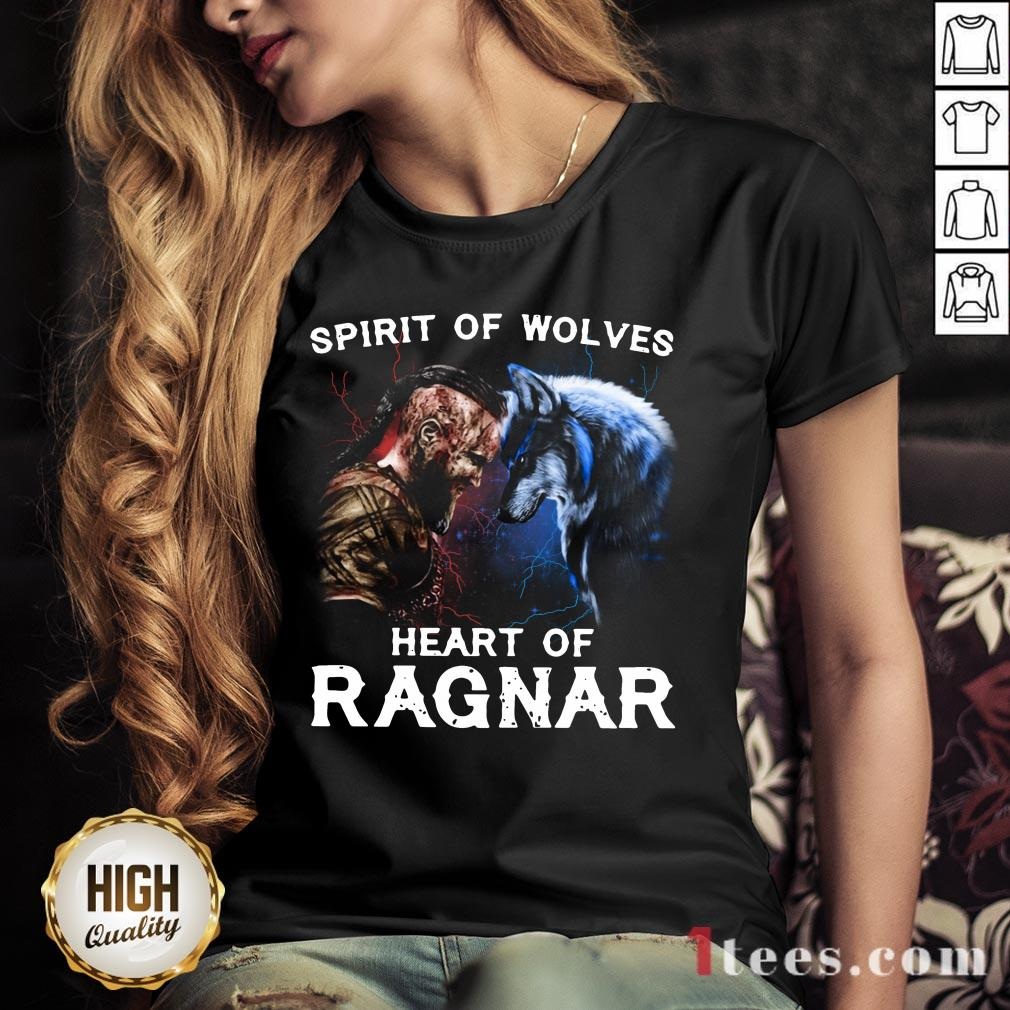Viking Bjorn Lothbrok Spirit Of Wolves Heart Of Ragnar V-neck