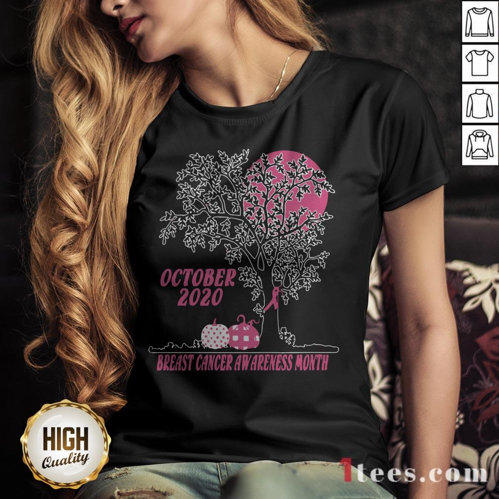Women'S October 2020 Breast Cancer Awareness Month V-neck