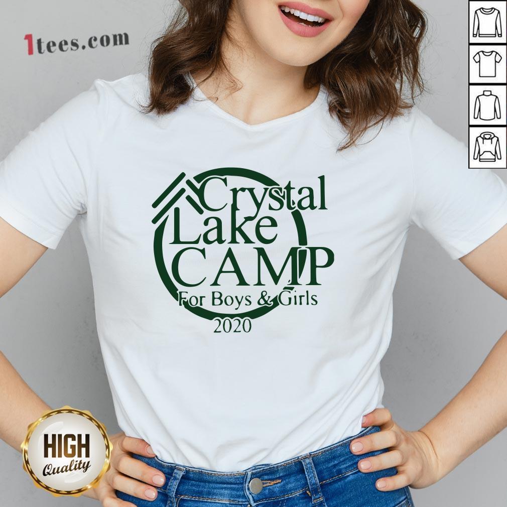 Awesome Camp Crystal Lake V-neck Design By T-shirtbear.com