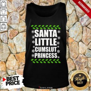 Awesome Santa Little Cumslut Princess Ugly Christmas Tank Top Design By T-shirtbear.com