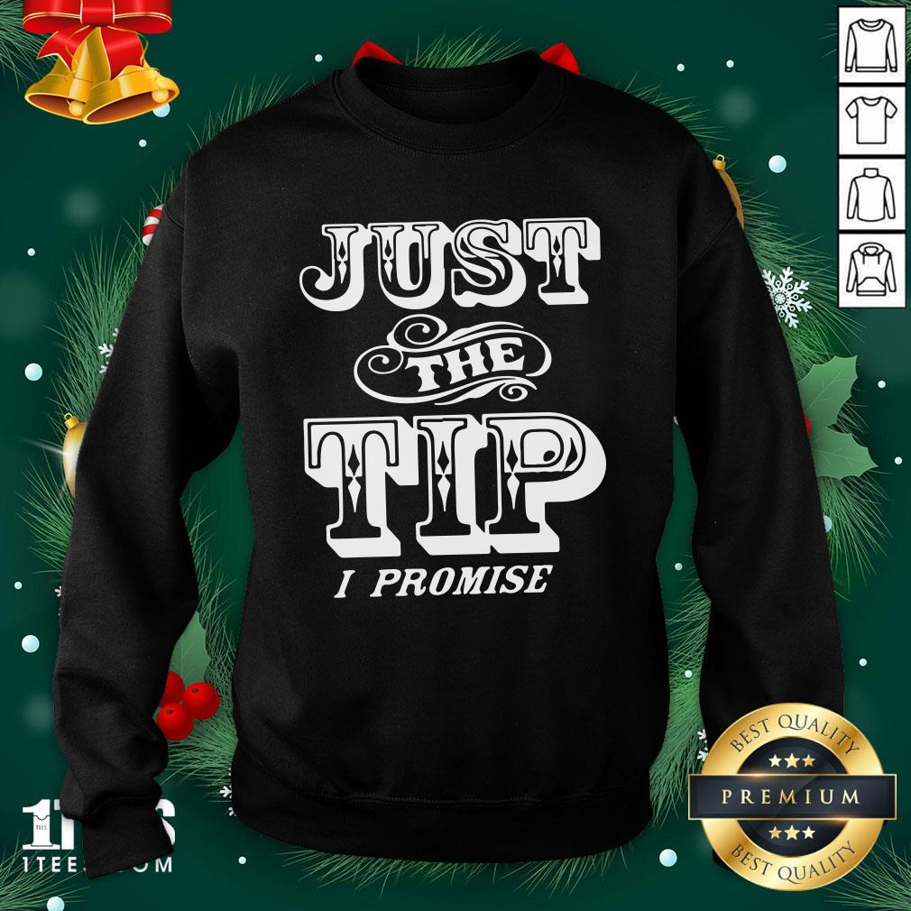Beautiful Just The Tip I Promise Sweatshirt - Design By 1tee.com