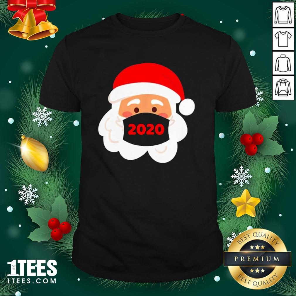 Cool Santa Claus Face Mask Christmas Shirt - Design By 1tee.com