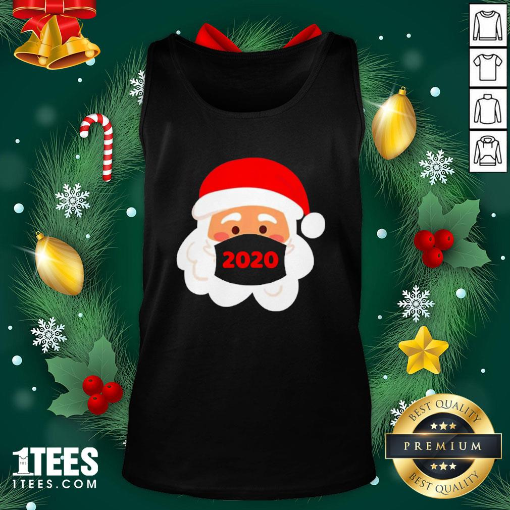 Cool Santa Claus Face Mask Christmas Tank Top - Design By 1tee.com