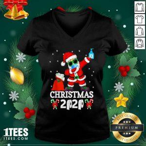 Cool Santa Dabbing Christmas 2020 V-neck - Design By 1tee.com