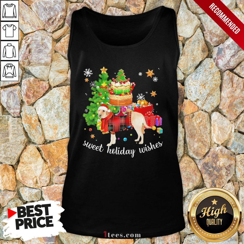 Funny Golden Santa sweet holiday wishes Christmas 2020 Tank Top Design By T-shirtbear.com
