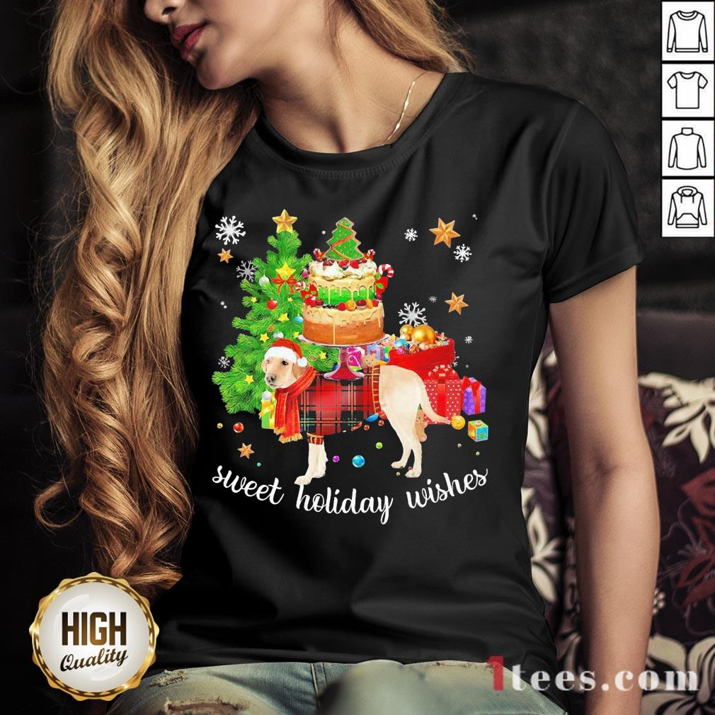 Funny Golden Santa sweet holiday wishes Christmas 2020 V-neck Design By T-shirtbear.com