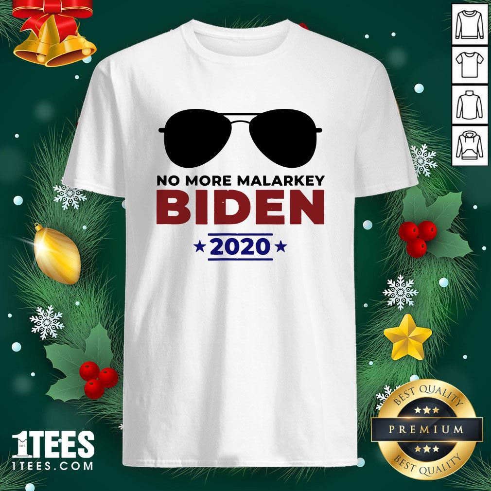 Funny Joe Biden For President 2020 No More Malarkey Shirt - Design By 1tee.com