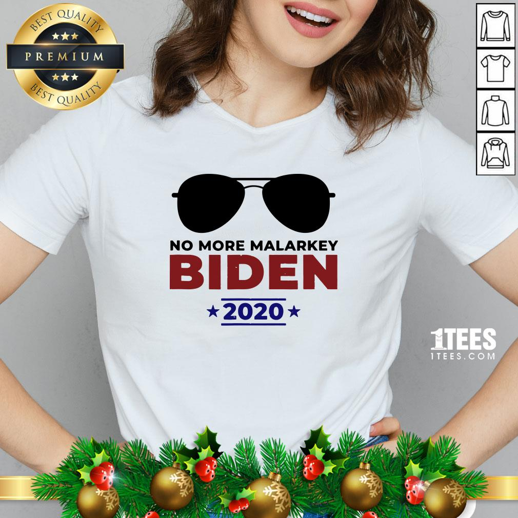 Funny Joe Biden For President 2020 No More Malarkey V-neck - Design By 1tee.com