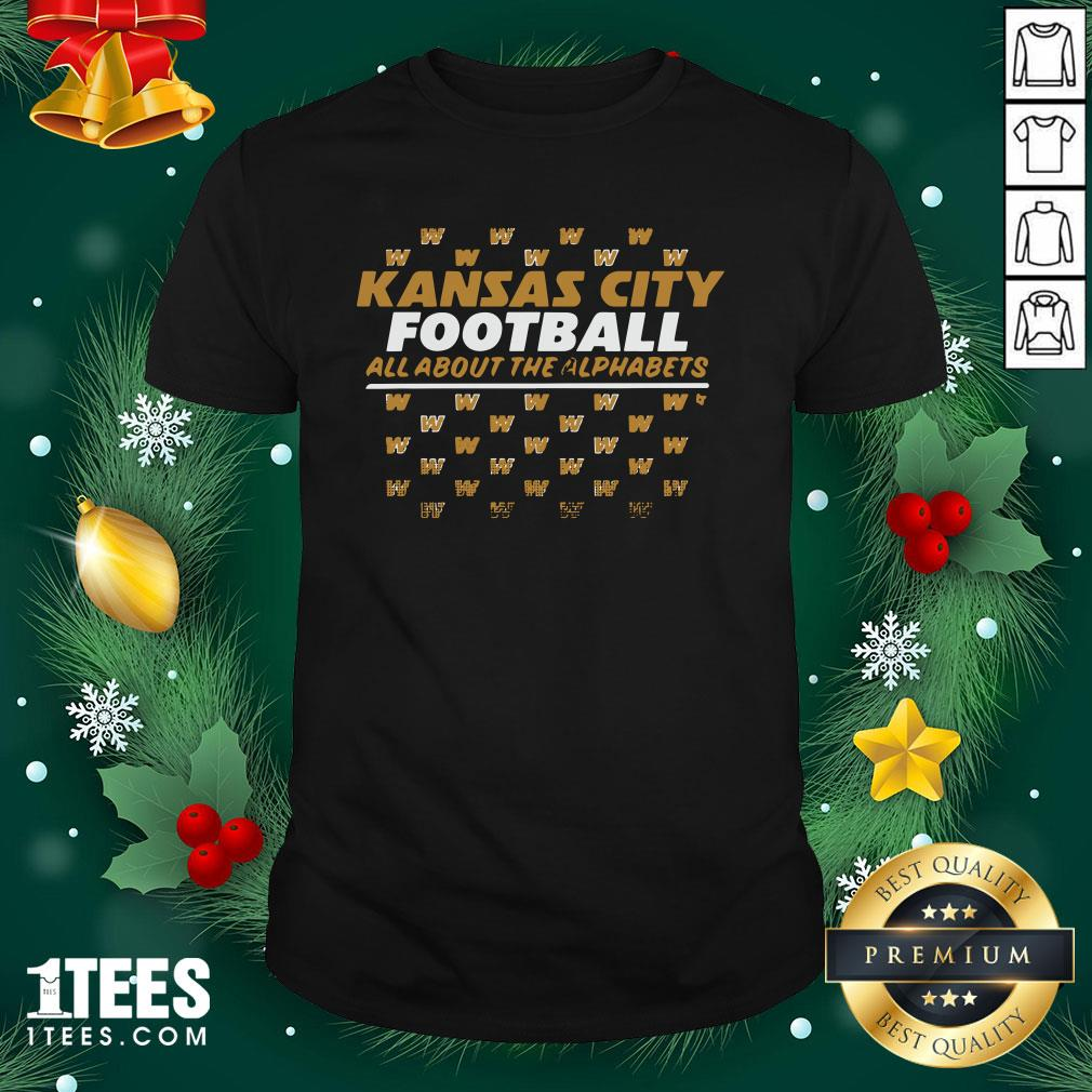Funny Kc Football All About The Alphabets Shirt - Design By 1tee.com