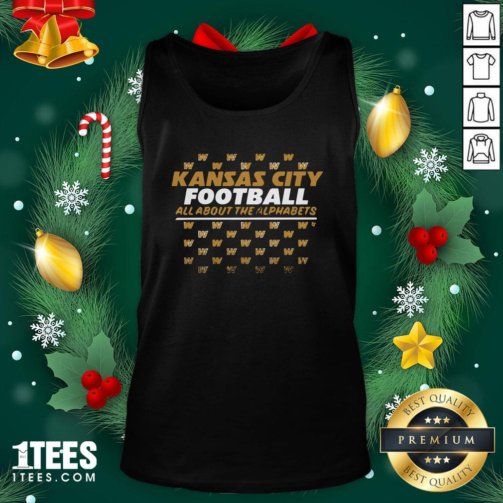 Funny Kc Football All About The Alphabets Tank Top - Design By 1tee.com