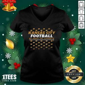 Funny Kc Football All About The Alphabets V-neck - Design By 1tee.com