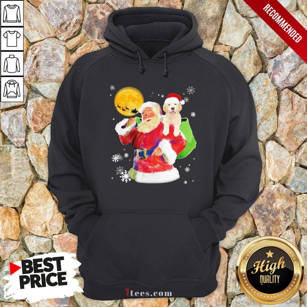 Funny Santa Claus and Golden happy Christmas 2020 Hoodie Design By T-shirtbear.com