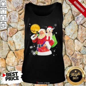 Funny Santa Claus and Golden happy Christmas 2020 Tank Top Design By T-shirtbear.com