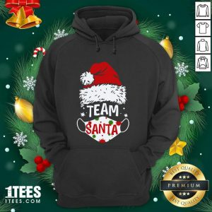 Team Santa Face Mask Christmas 2020 Cost Hoodie- Design By 1Tees.com
