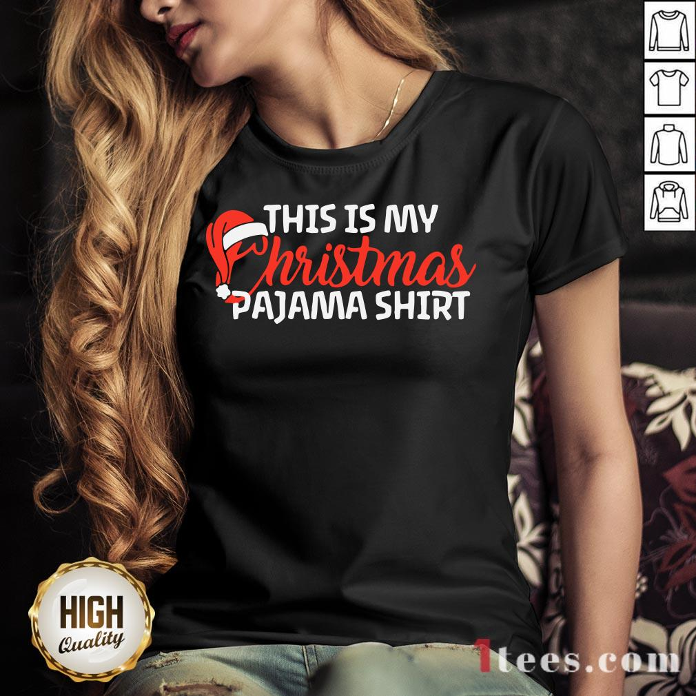 Good This Is My Christmas Pajama V-neck Design By T-shirtbear.com