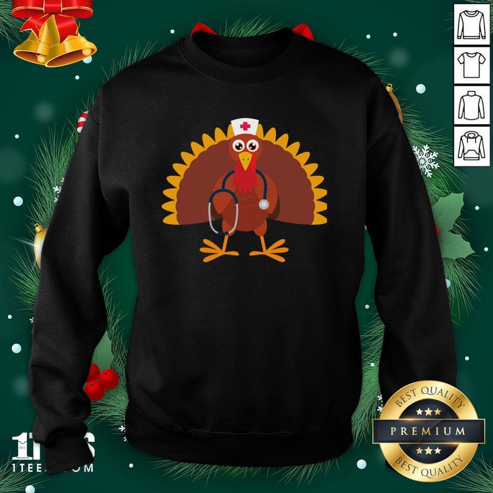 Happy Nurse Thanksgiving 2020 Turkey Wearing Mask Sweatshirt - Design By 1tee.com