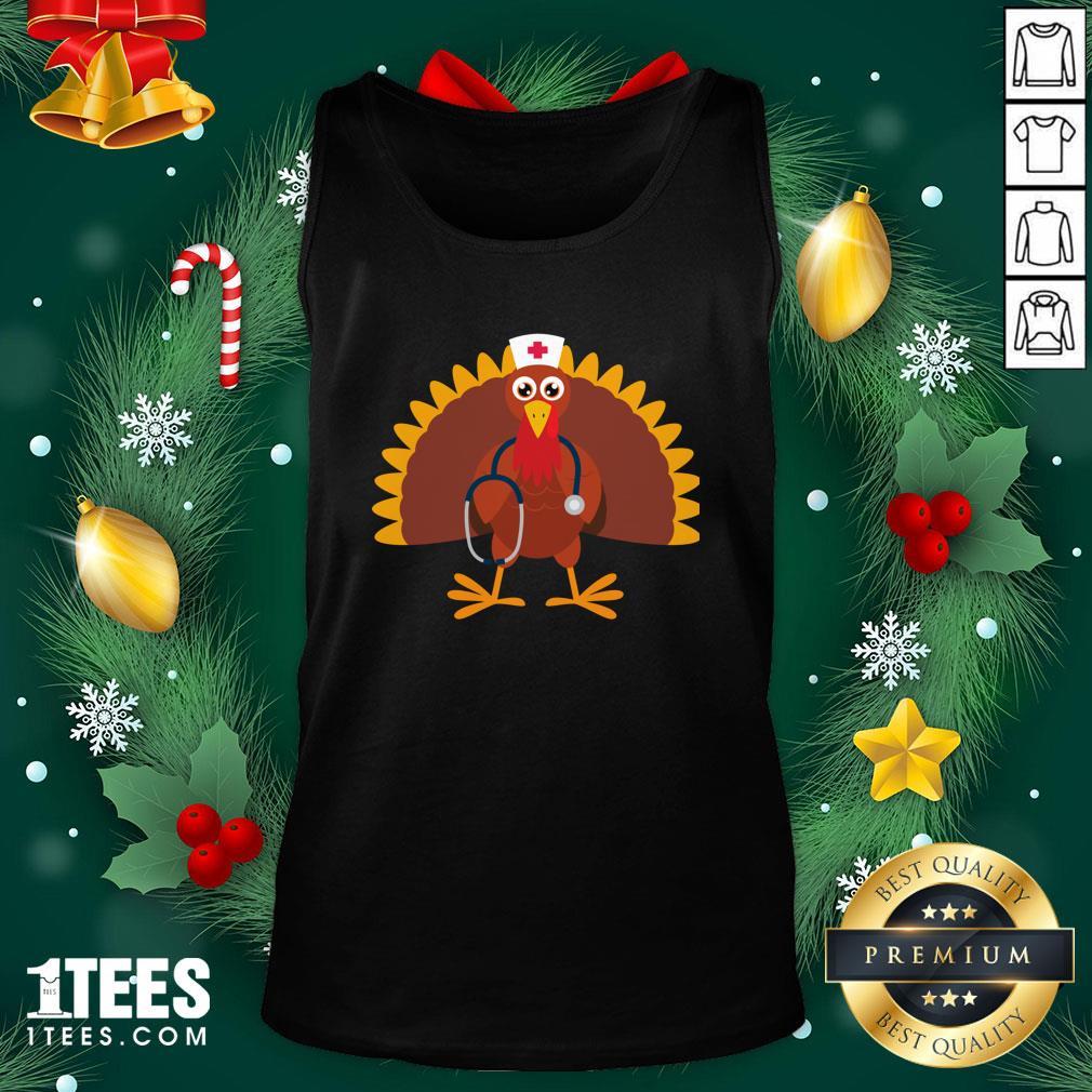 Happy Nurse Thanksgiving 2020 Turkey Wearing Mask Tank Top - Design By 1tee.com