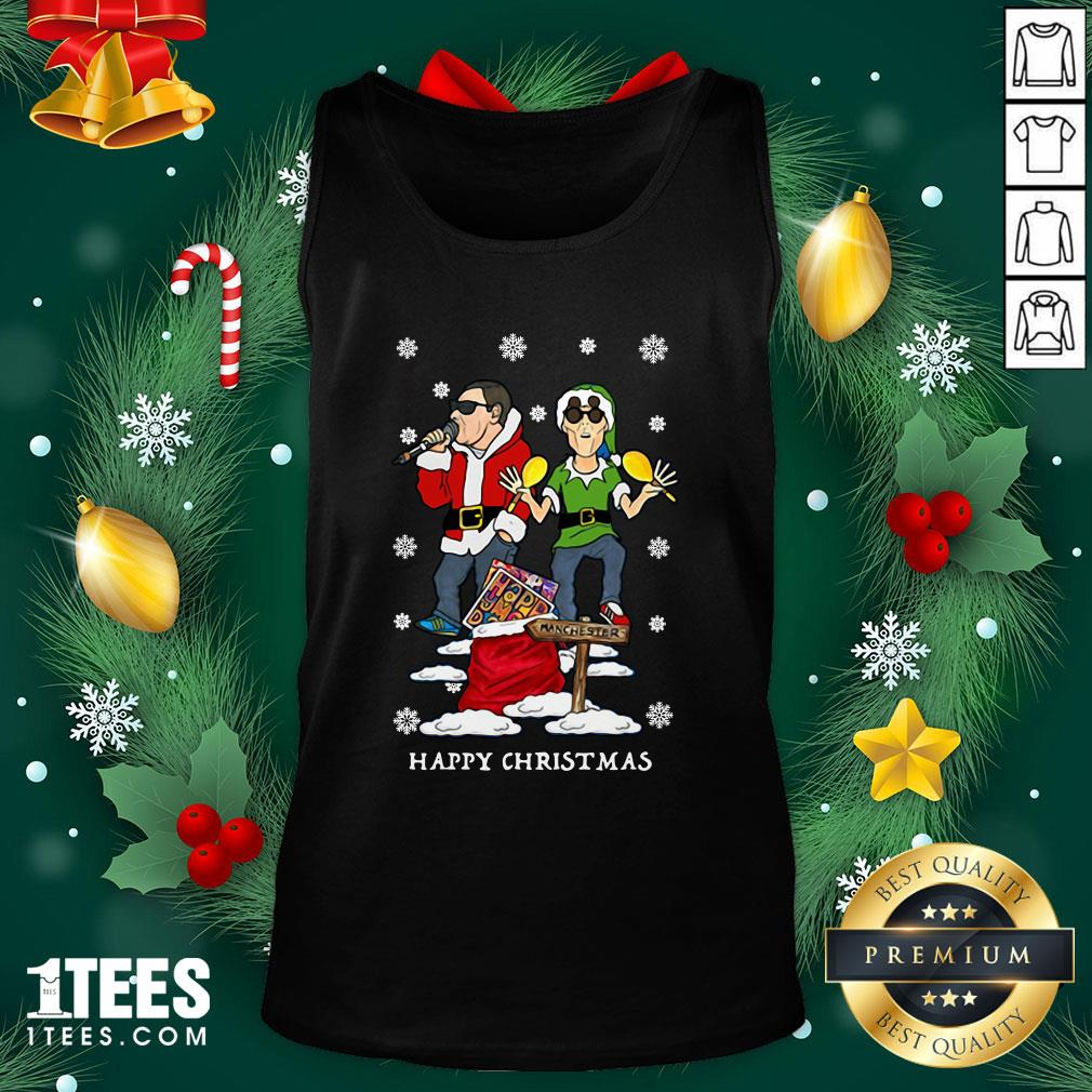 Hot Happy Mondays Christmas Jumper Sweat Tank Top - Design By 1tee.com