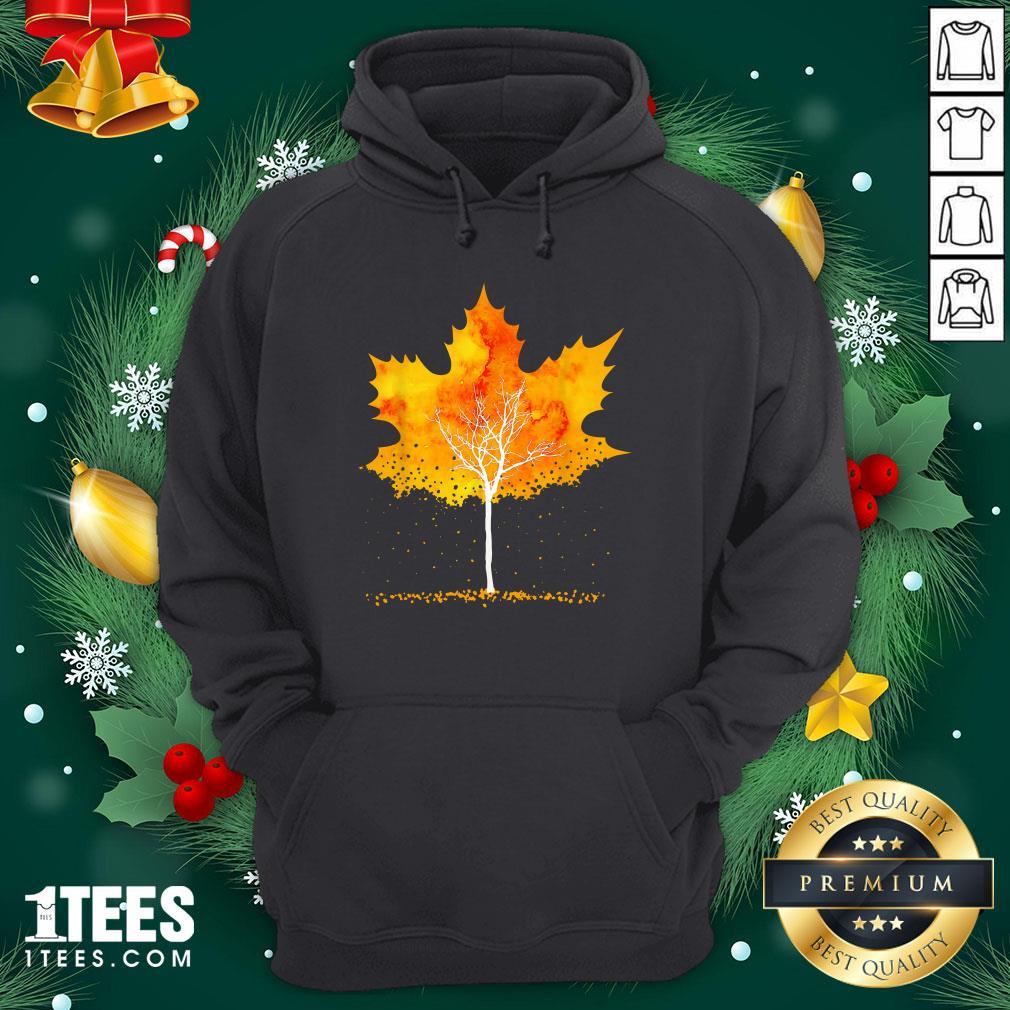 Hot Maple Leaf Autumn Tree Orange Fall Leaves Season Hoodie - Design By 1tee.com