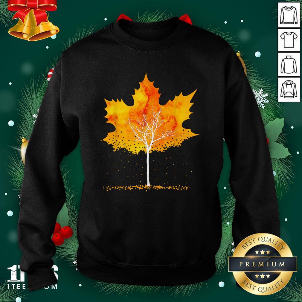Hot Maple Leaf Autumn Tree Orange Fall Leaves Season Sweatshirt - Design By 1tee.com