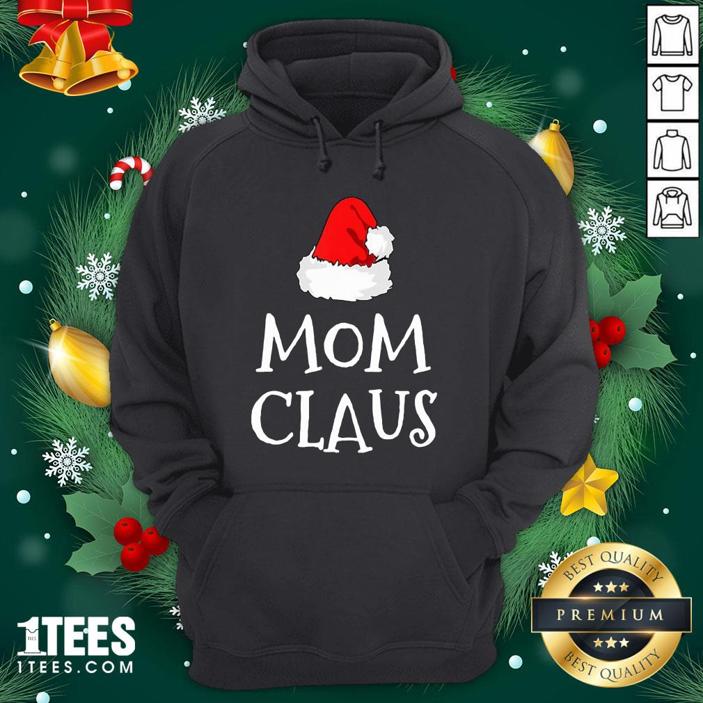 Hot Mom Claus Christmas Hat Hoodie - Design By 1tee.com