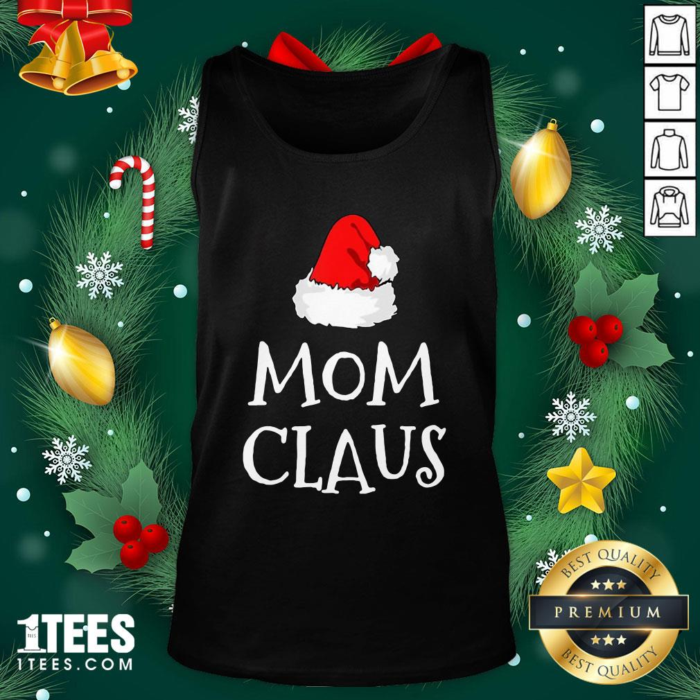 Hot Mom Claus Christmas Hat Tank Top - Design By 1tee.com