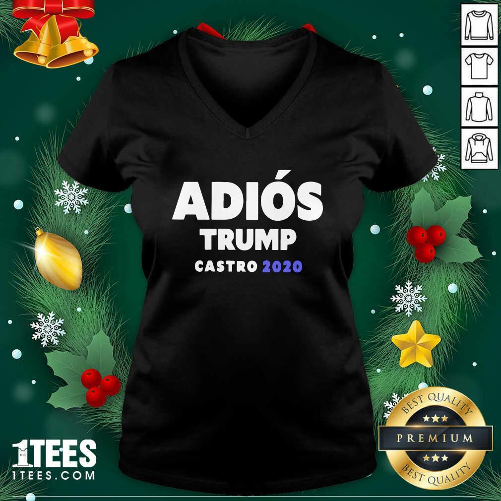 Adios Trump Castro 2020 V-neck - Design By 1tees.com