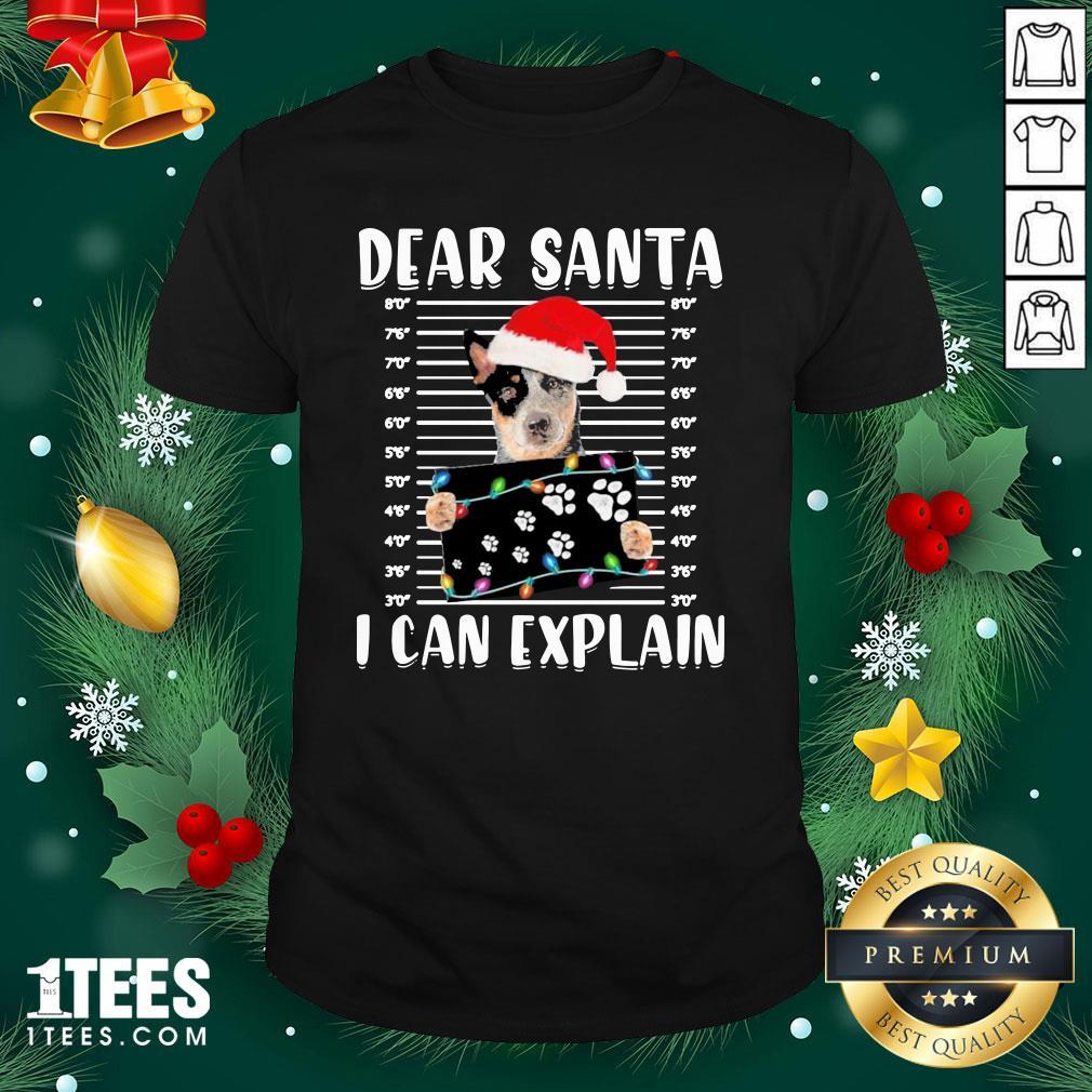 Nice Australian Cattle Dear Santa I Can Explain Christmas Sweater Shirt - Design By 1tee.com