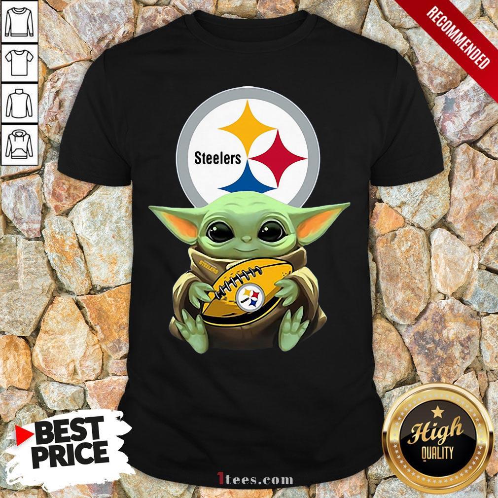 Nice Baby Yoda Hug Rugby Steelers Shirt Design By T-shirtbear.com