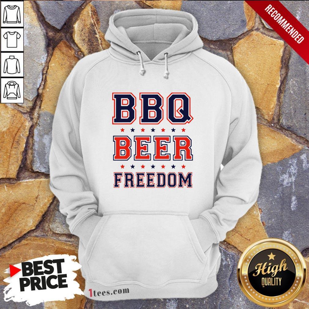 Nice Bbq beer Freedom Hoodie Design By T-shirtbear.com