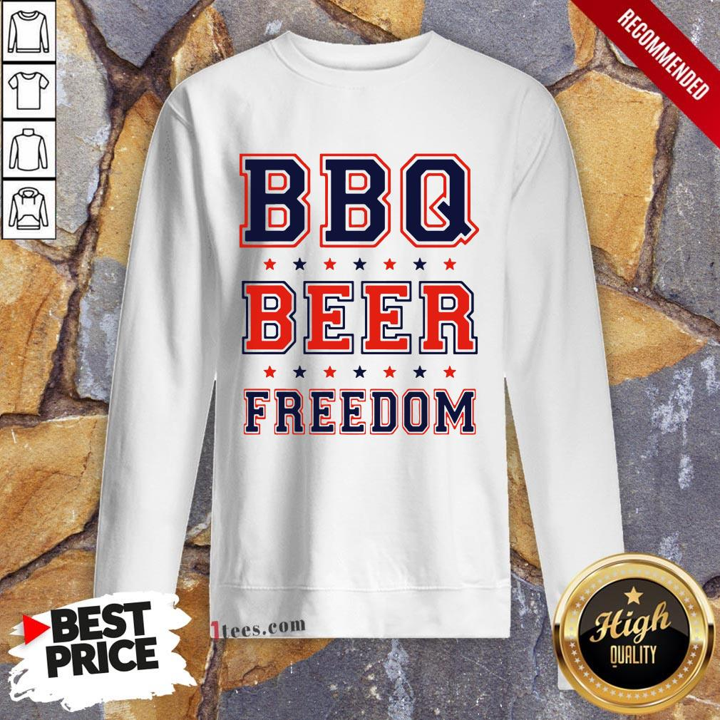 Nice Bbq beer Freedom Sweatshirt Design By T-shirtbear.com