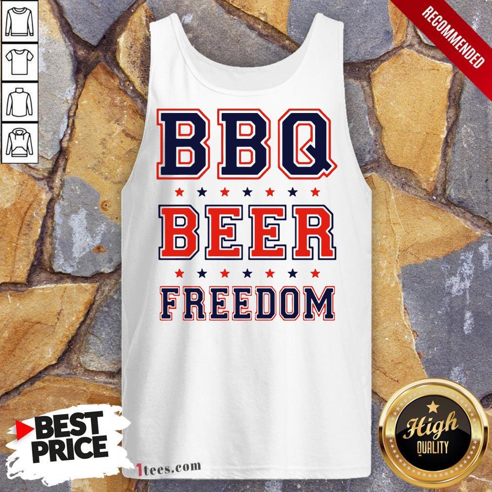 Nice Bbq beer Freedom Tank Top Design By T-shirtbear.com
