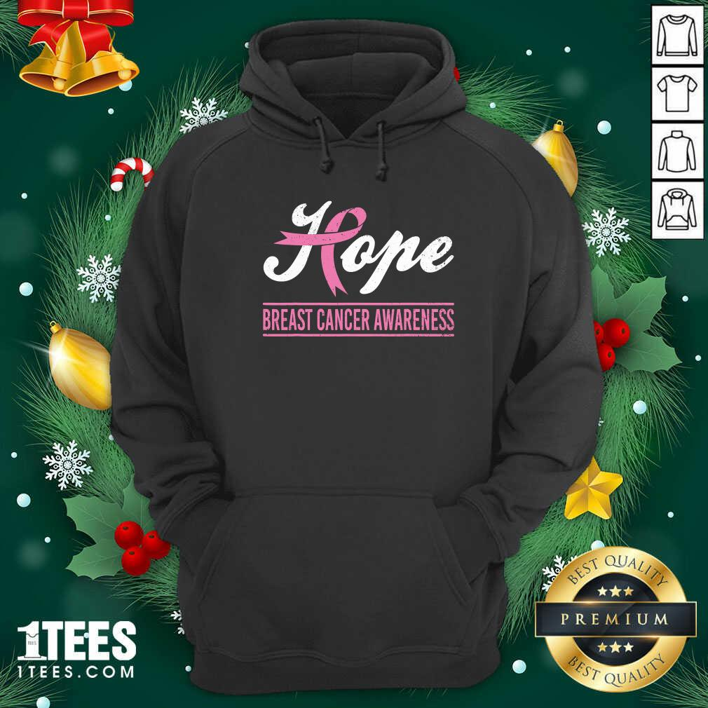 Hope Breast Cancer Awareness Survivor Pink Ribbon Support Hoodie - Design By 1tees.com