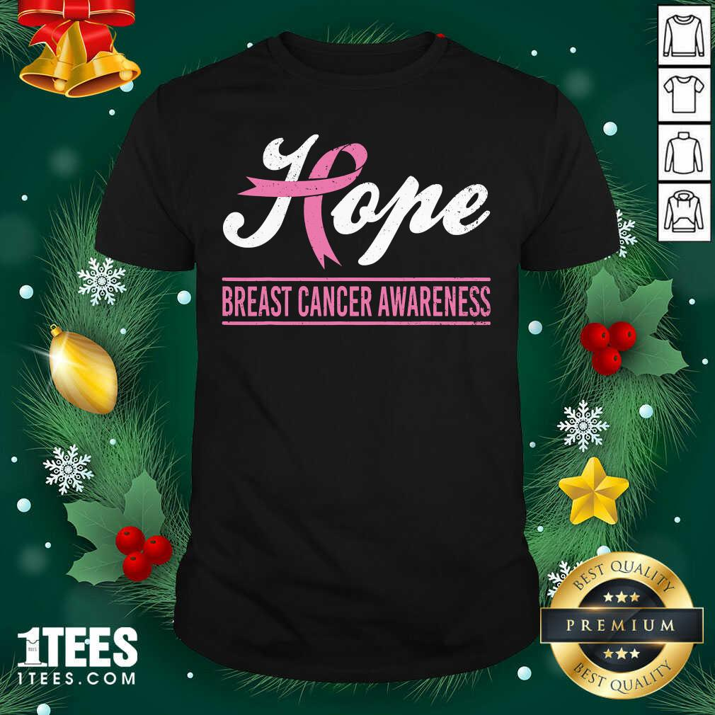 Hope Breast Cancer Awareness Survivor Pink Ribbon Support Shirt - Design By 1tees.com
