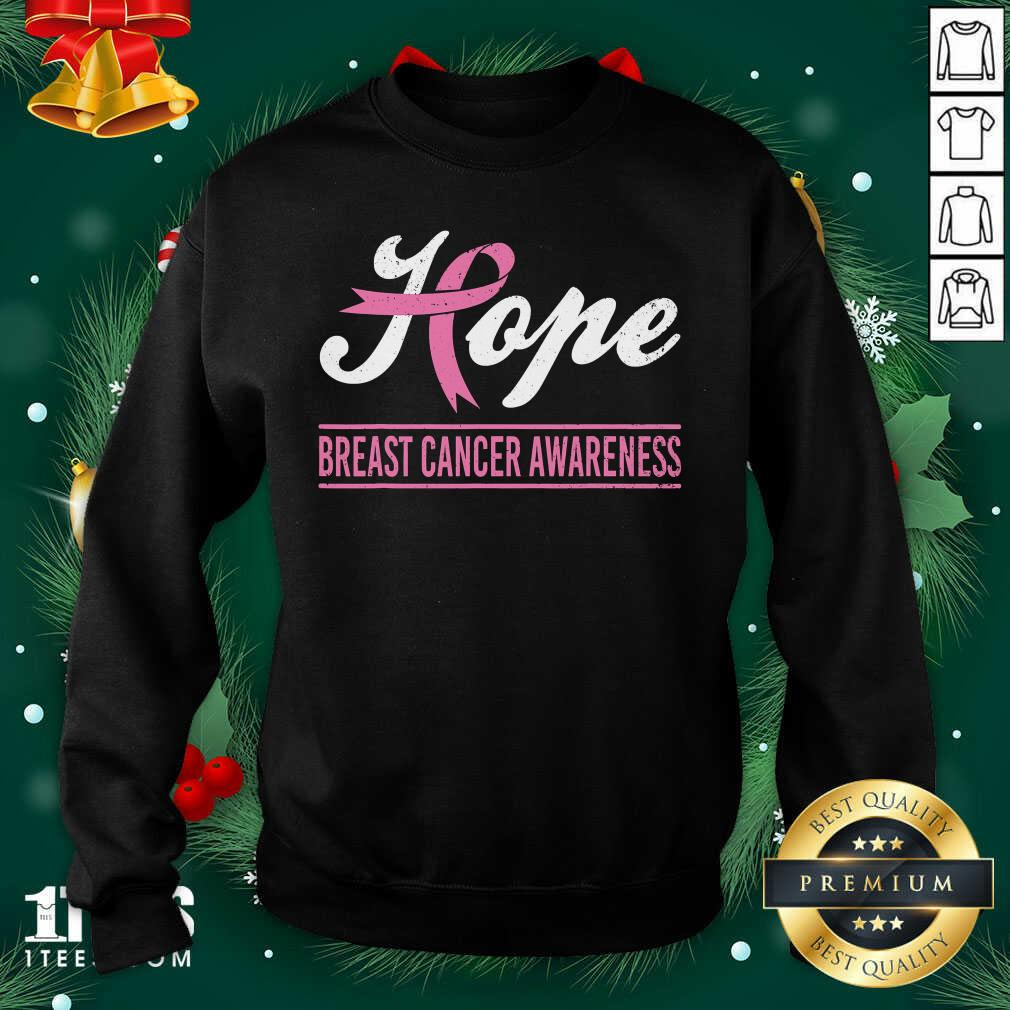 Hope Breast Cancer Awareness Survivor Pink Ribbon Support Sweatshirt - Design By 1tees.com